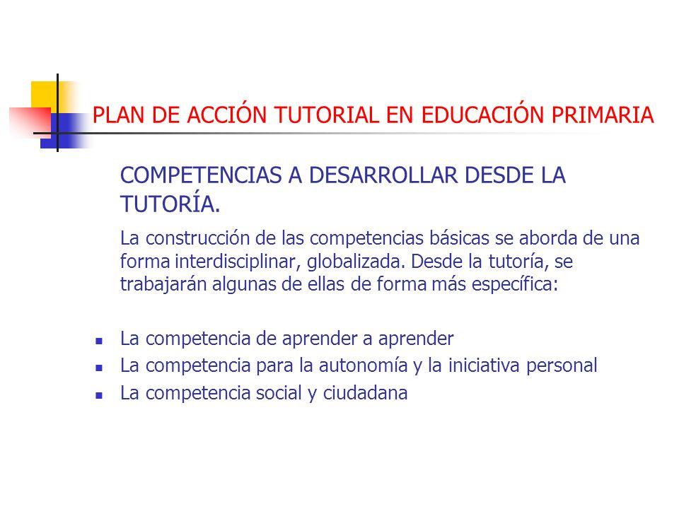 PLAN DE ACCIÓN TUTORIAL EN EDUCACIÓN PRIMARIA