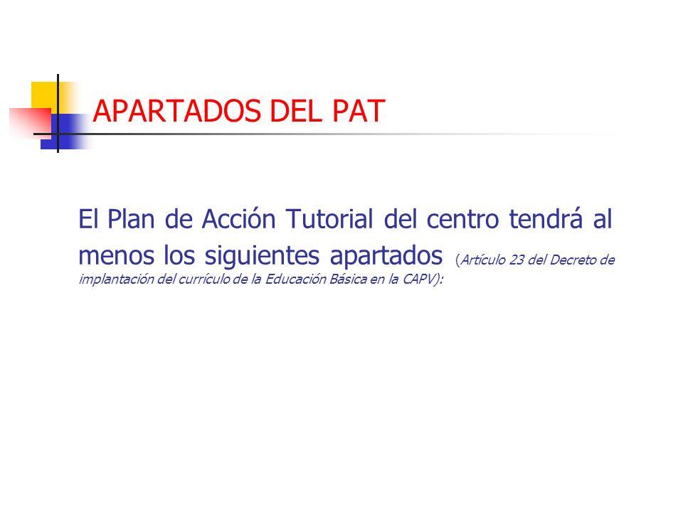 APARTADOS DEL PAT