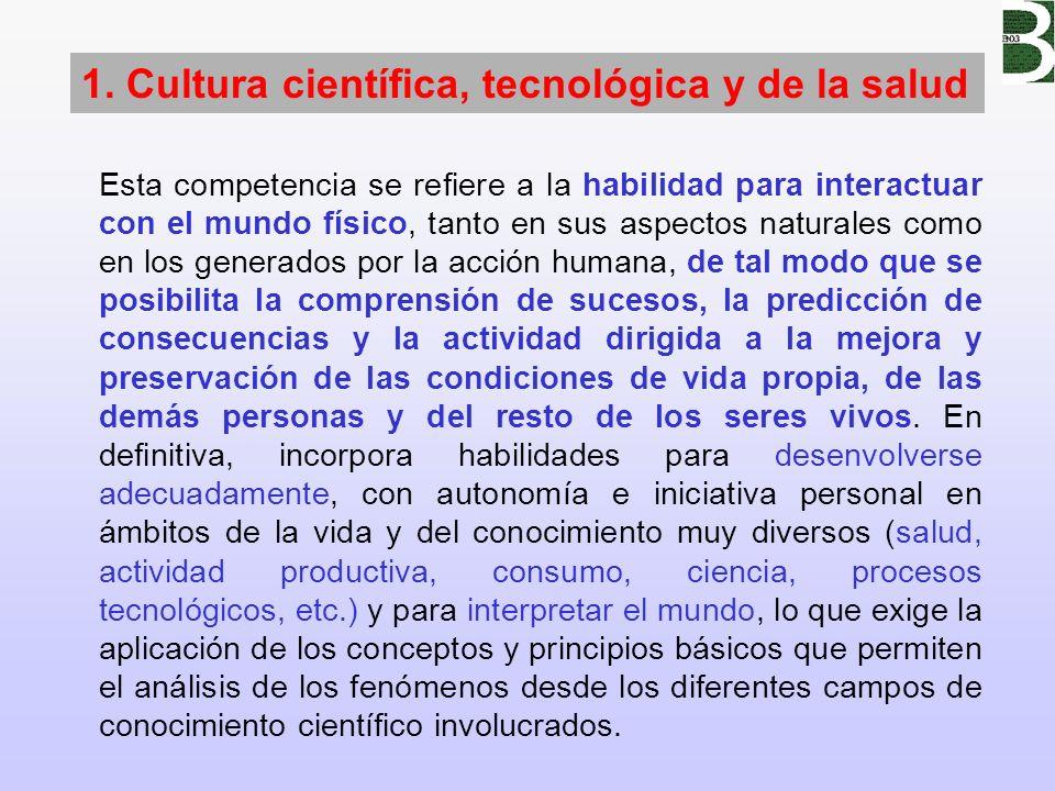 1. Cultura científica, tecnológica y de la salud