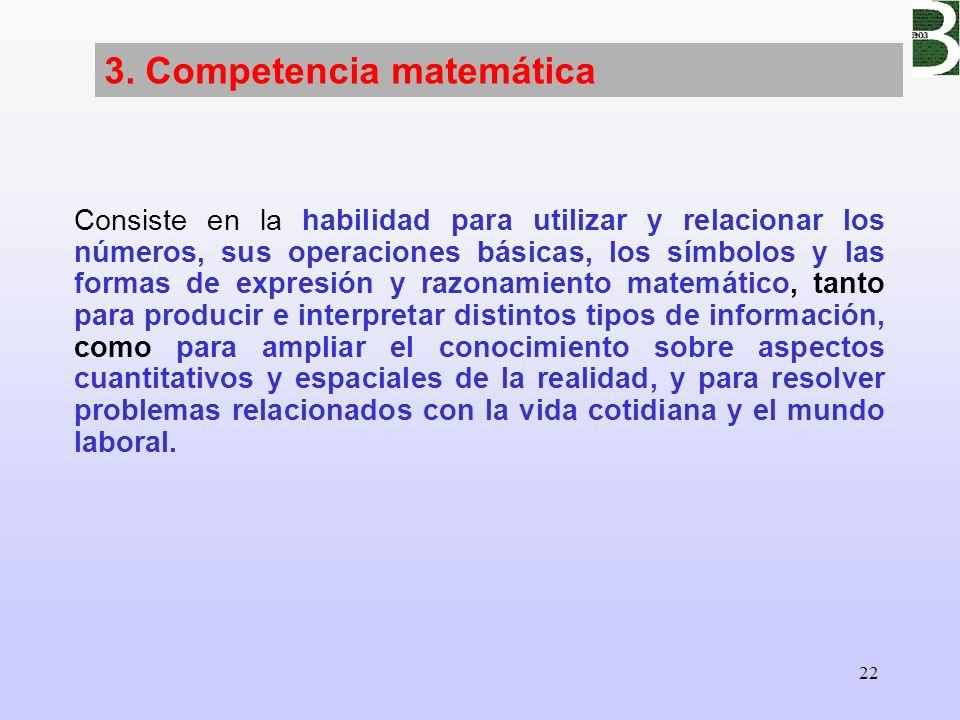 3. Competencia matemática