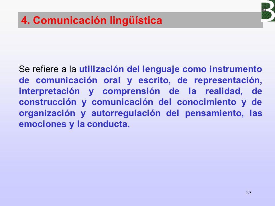4. Comunicación lingüística