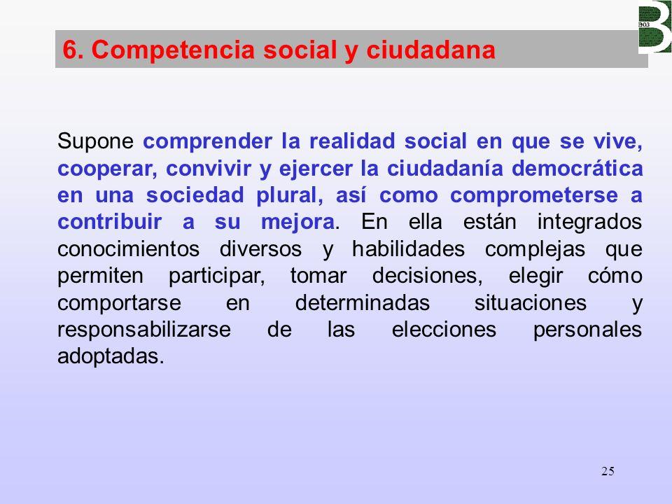 6. Competencia social y ciudadana