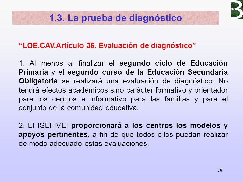 1.3. La prueba de diagnóstico