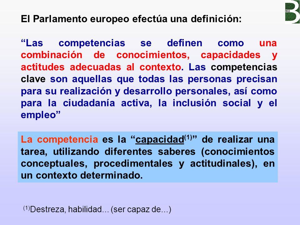 El Parlamento europeo efectúa una definición: