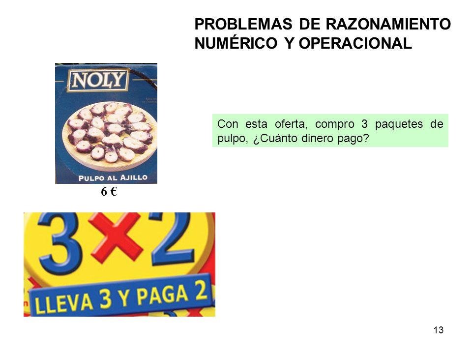 PROBLEMAS DE RAZONAMIENTO NUMÉRICO Y OPERACIONAL