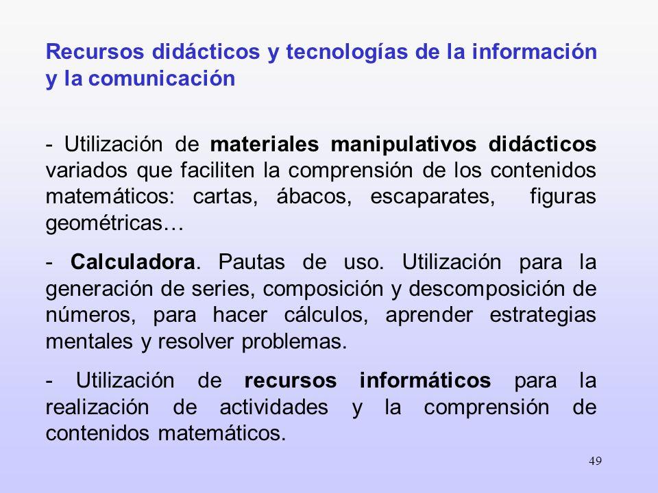Recursos didácticos y tecnologías de la información y la comunicación