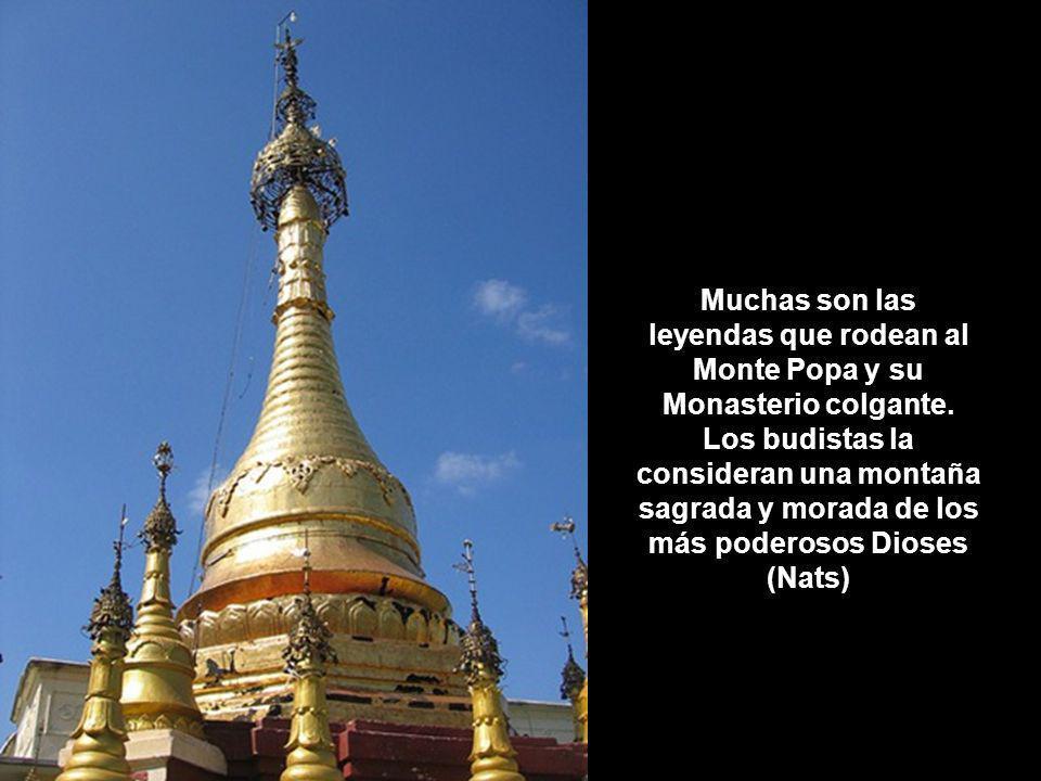 Muchas son las leyendas que rodean al Monte Popa y su Monasterio colgante.