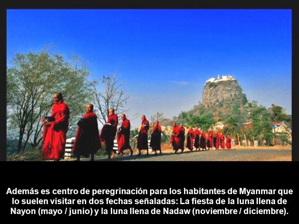 Además es centro de peregrinación para los habitantes de Myanmar que lo suelen visitar en dos fechas señaladas: La fiesta de la luna llena de Nayon (mayo / junio) y la luna llena de Nadaw (noviembre / diciembre).