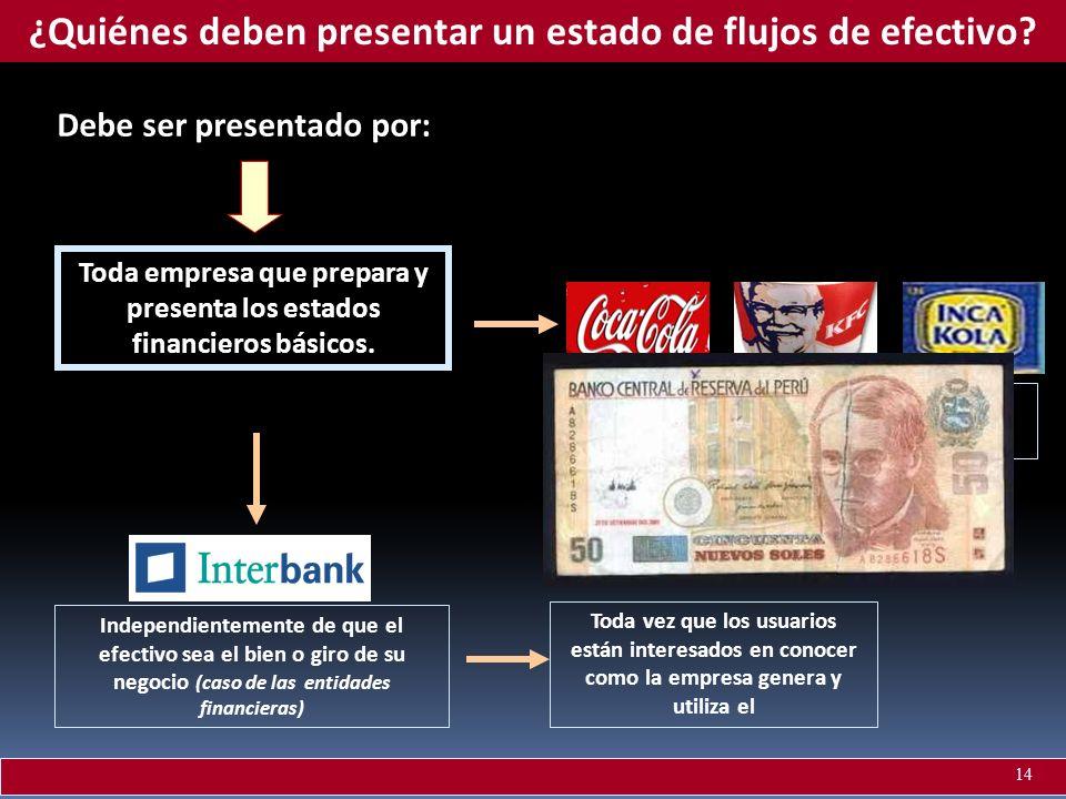 ¿Quiénes deben presentar un estado de flujos de efectivo
