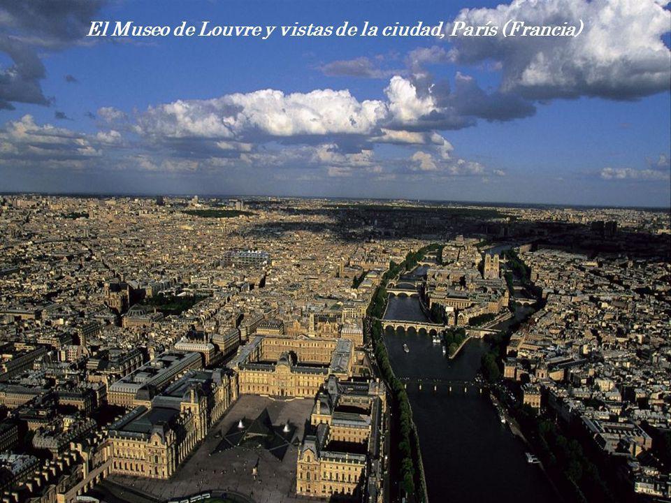 El Museo de Louvre y vistas de la ciudad, París (Francia)