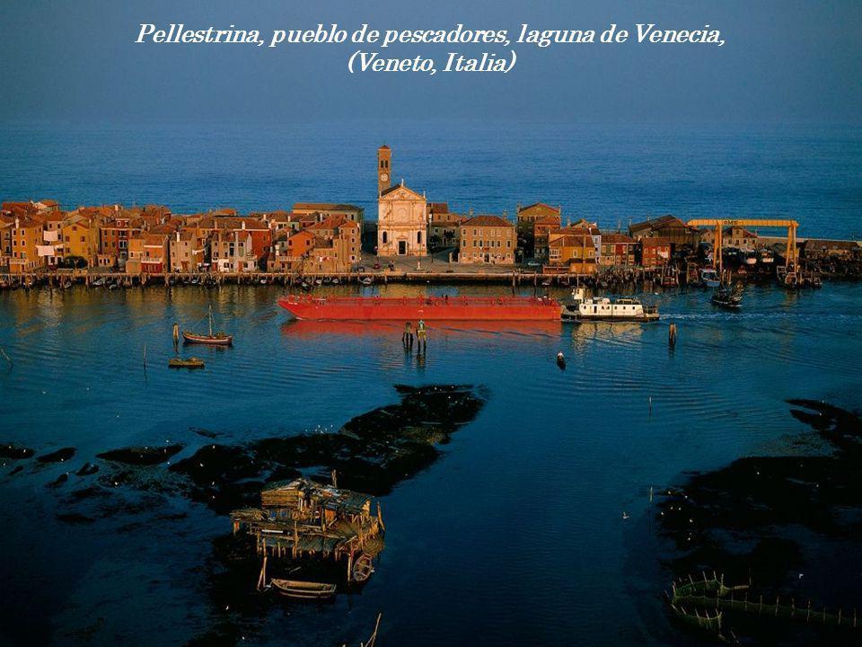 Pellestrina, pueblo de pescadores, laguna de Venecia,