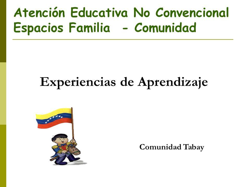 Atención Educativa No Convencional Espacios Familia - Comunidad