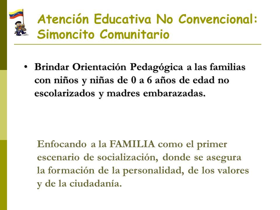 Atención Educativa No Convencional: Simoncito Comunitario