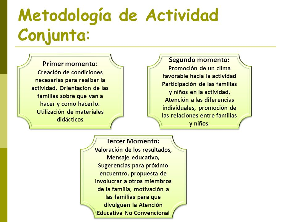 Metodología de Actividad Conjunta: