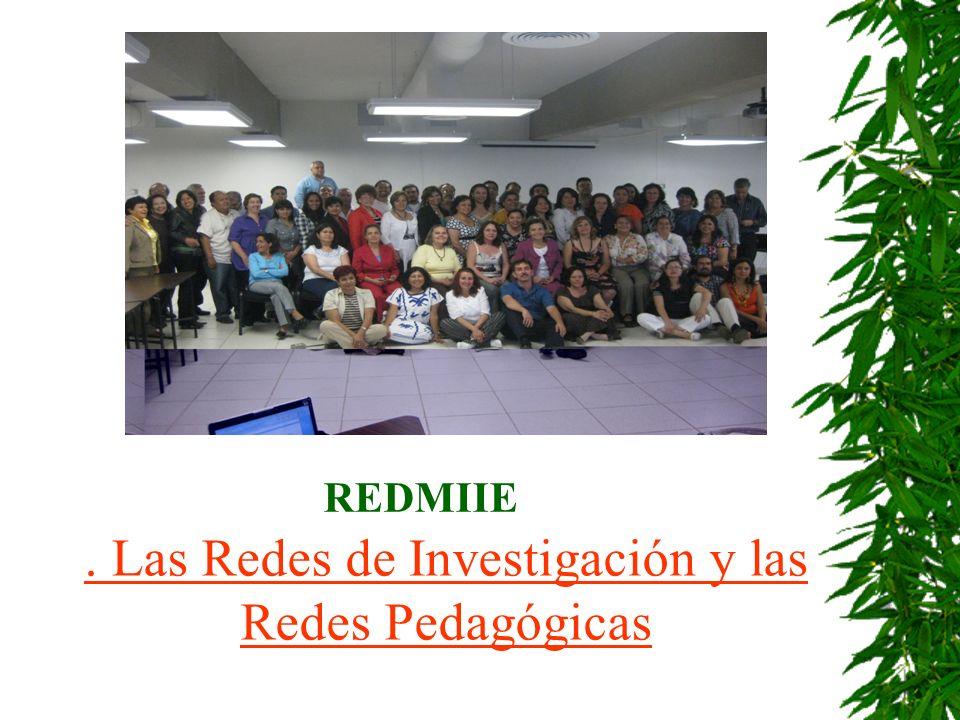 . Las Redes de Investigación y las Redes Pedagógicas