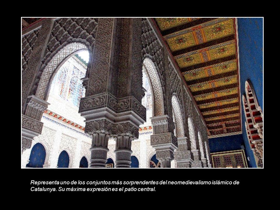Representa uno de los conjuntos más sorprendentes del neomedievalismo islámico de Catalunya.