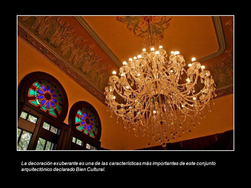 La decoración exuberante es una de las características más importantes de este conjunto arquitectónico declarado Bien Cultural.