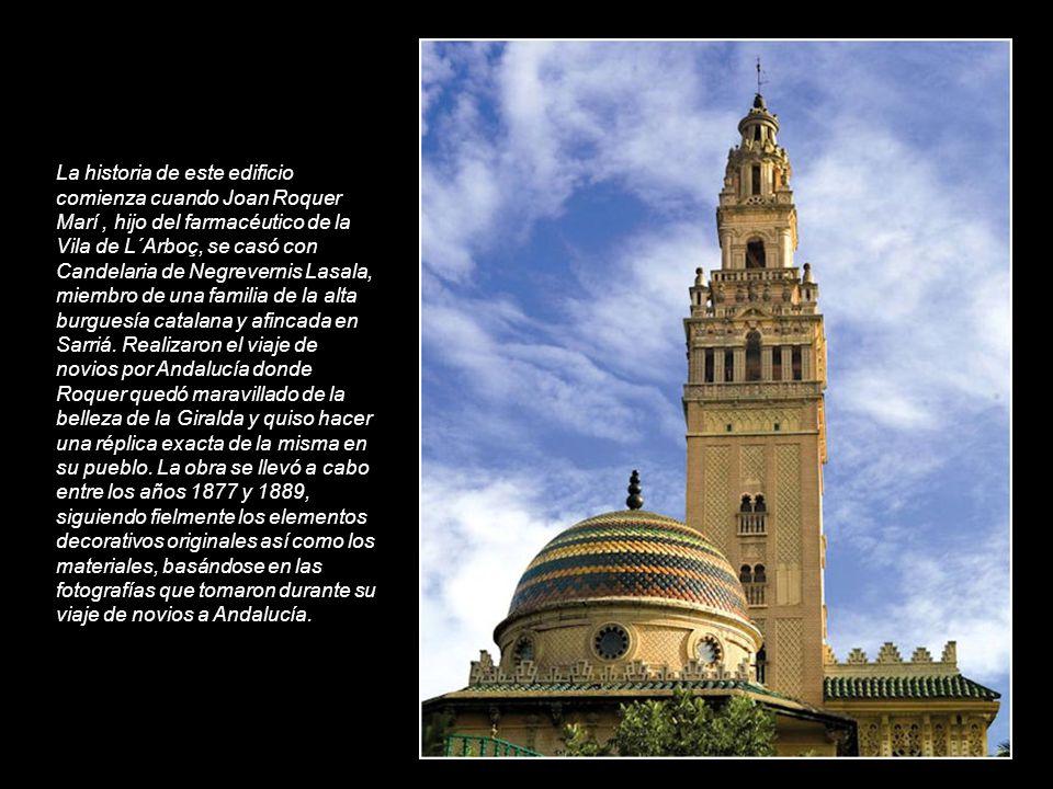 La historia de este edificio comienza cuando Joan Roquer Marí , hijo del farmacéutico de la Vila de L´Arboç, se casó con Candelaria de Negrevernis Lasala, miembro de una familia de la alta burguesía catalana y afincada en Sarriá.