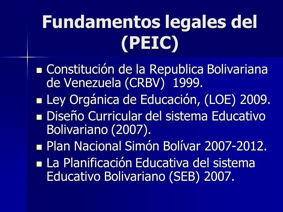 Fundamentos legales del (PEIC)