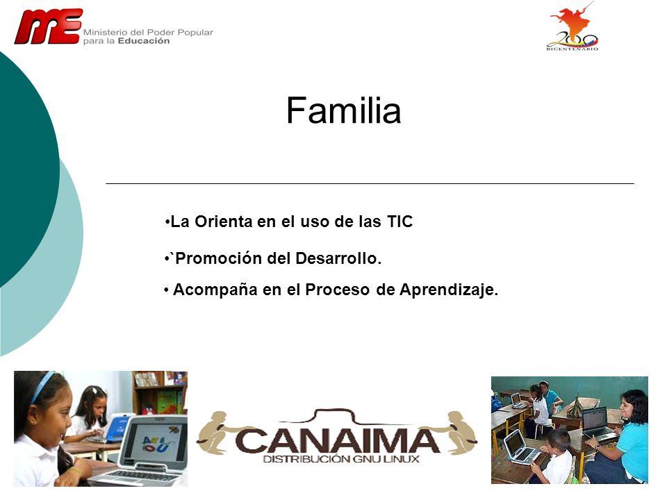 Familia La Orienta en el uso de las TIC `Promoción del Desarrollo.
