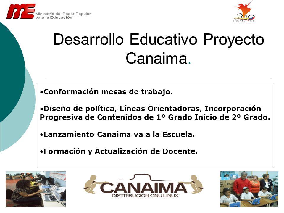 Desarrollo Educativo Proyecto Canaima.