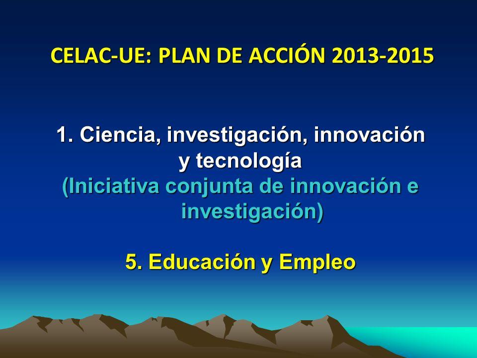 CELAC-UE: PLAN DE ACCIÓN 2013-2015