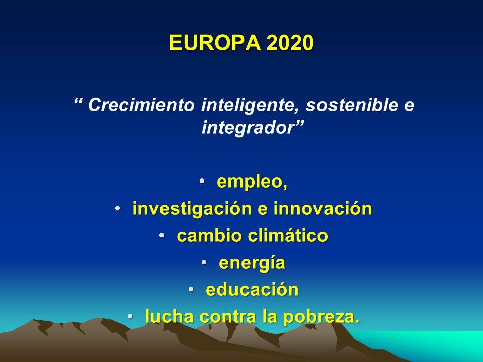 EUROPA 2020 Crecimiento inteligente, sostenible e integrador