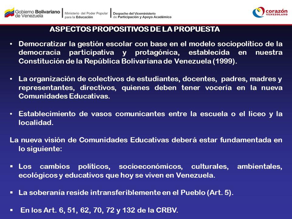 ASPECTOS PROPOSITIVOS DE LA PROPUESTA
