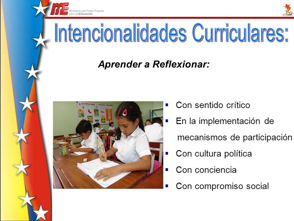 Intencionalidades Curriculares: