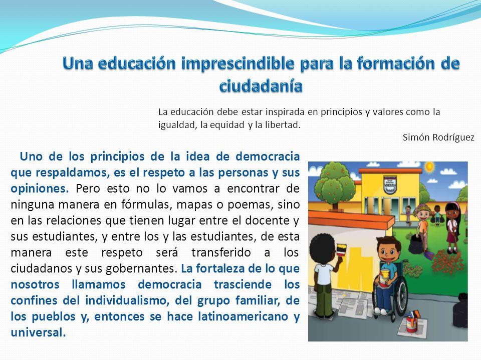 Una educación imprescindible para la formación de ciudadanía