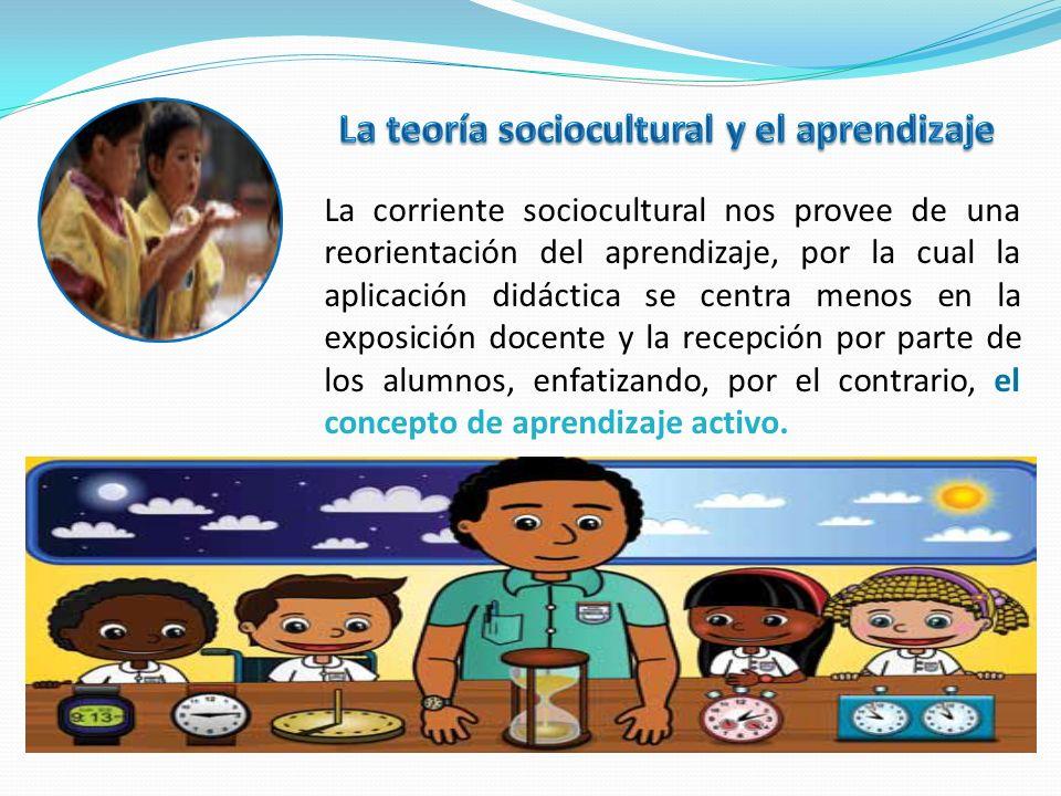 La teoría sociocultural y el aprendizaje