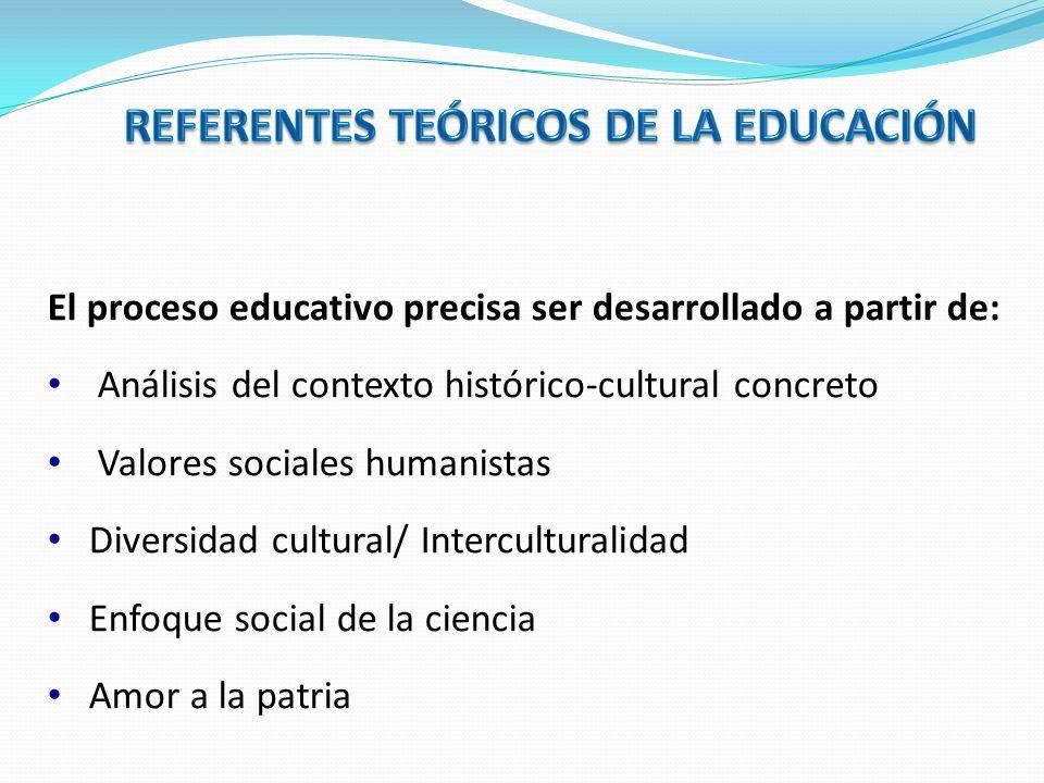 REFERENTES TEÓRICOS DE LA EDUCACIÓN