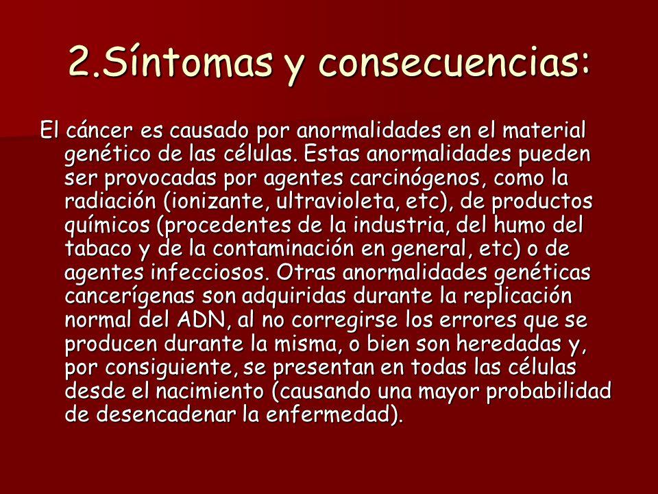 2.Síntomas y consecuencias: