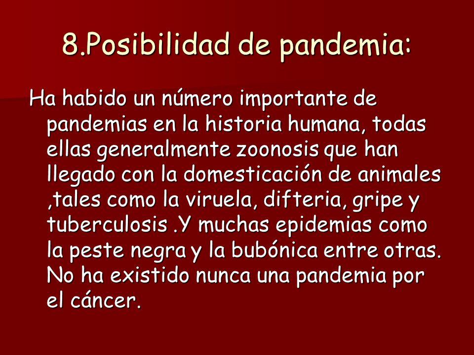 8.Posibilidad de pandemia: