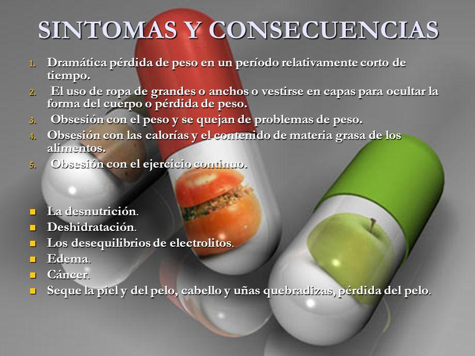 SINTOMAS Y CONSECUENCIAS