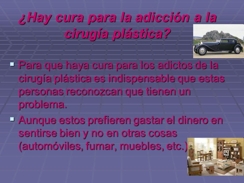 ¿Hay cura para la adicción a la cirugía plástica