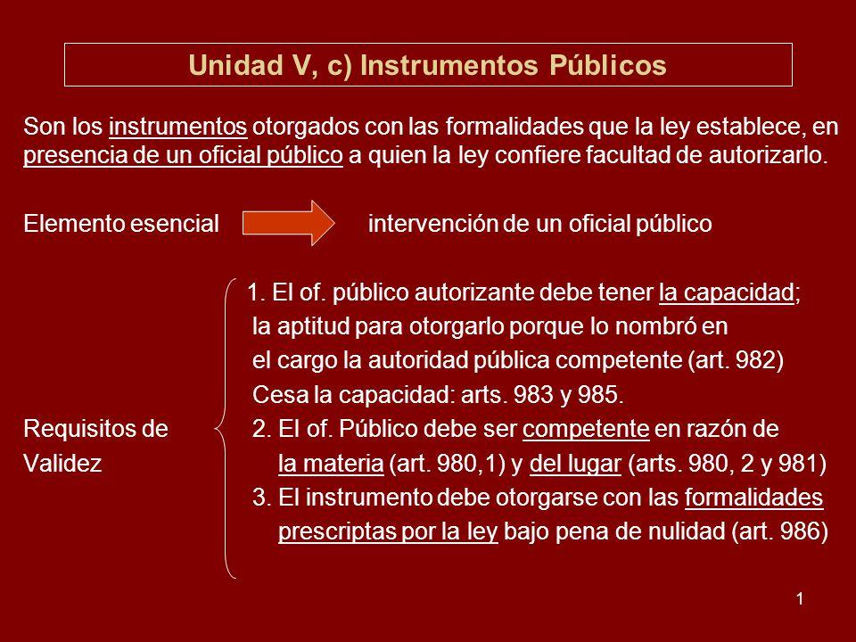 Unidad V, c) Instrumentos Públicos