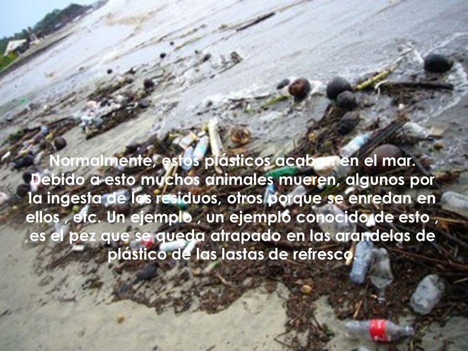 Normalmente, estos plásticos acaban en el mar