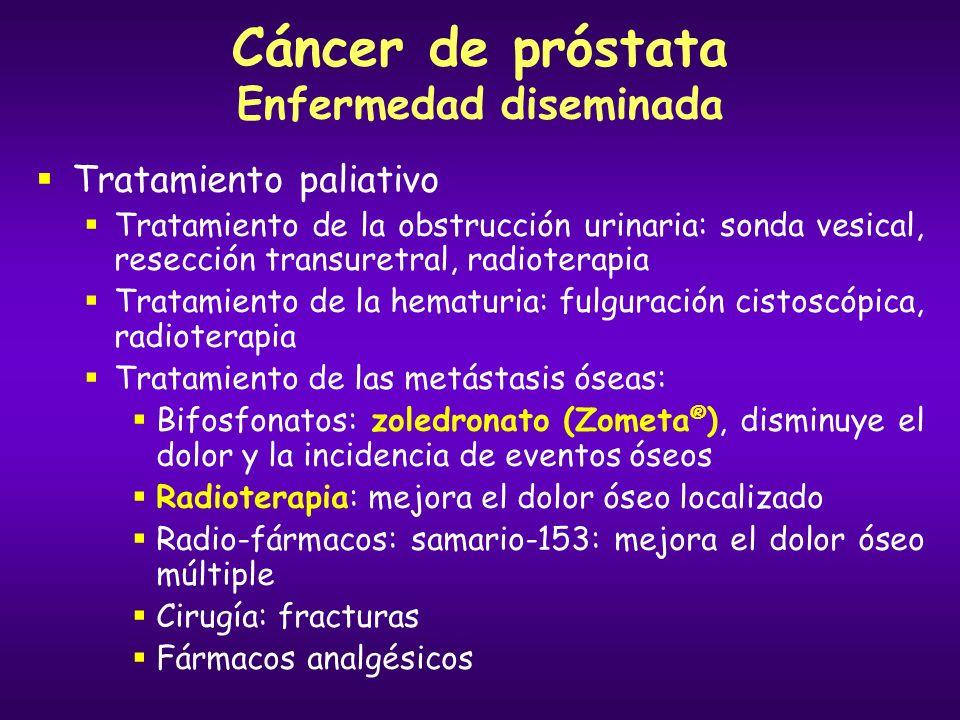 Cáncer de próstata Enfermedad diseminada