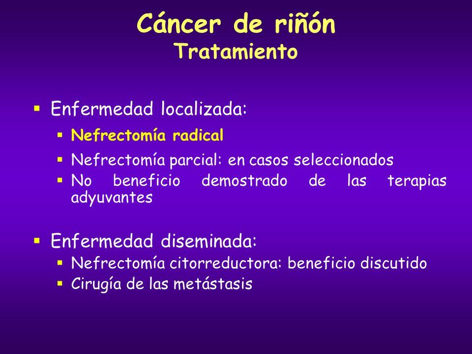 Cáncer de riñón Tratamiento
