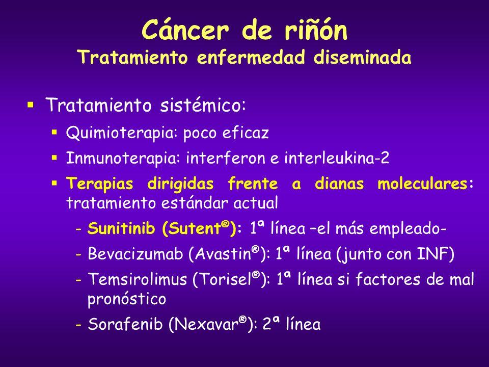 Cáncer de riñón Tratamiento enfermedad diseminada