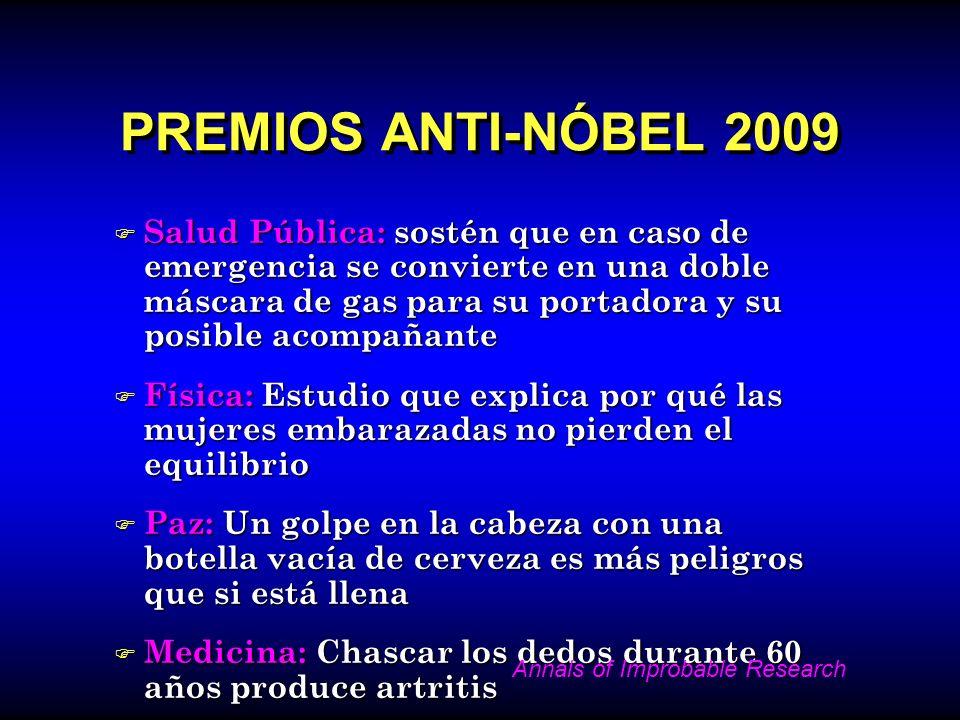 PREMIOS ANTI-NÓBEL 2009