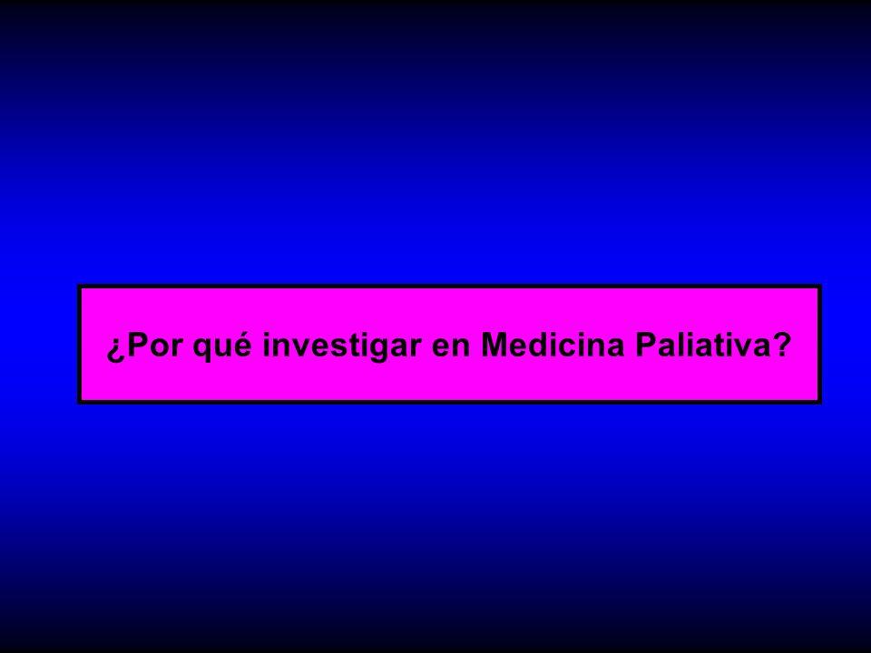 ¿Por qué investigar en Medicina Paliativa