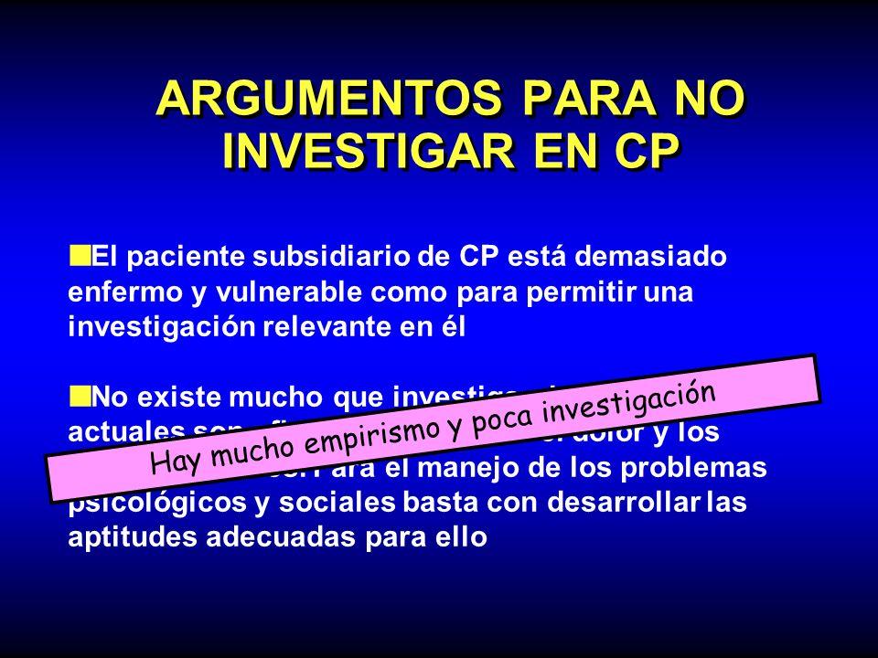 ARGUMENTOS PARA NO INVESTIGAR EN CP