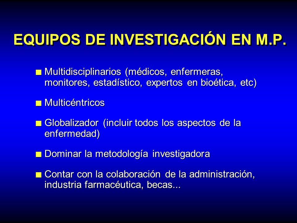 EQUIPOS DE INVESTIGACIÓN EN M.P.