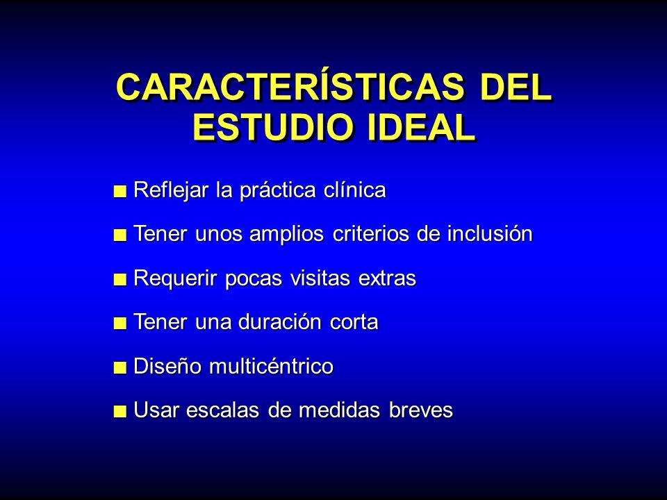 CARACTERÍSTICAS DEL ESTUDIO IDEAL