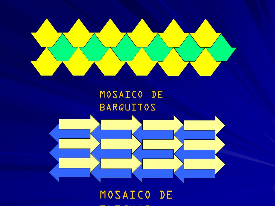 MOSAICO DE BARQUITOS MOSAICO DE FLECHAS