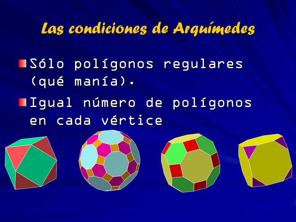 Las condiciones de Arquímedes