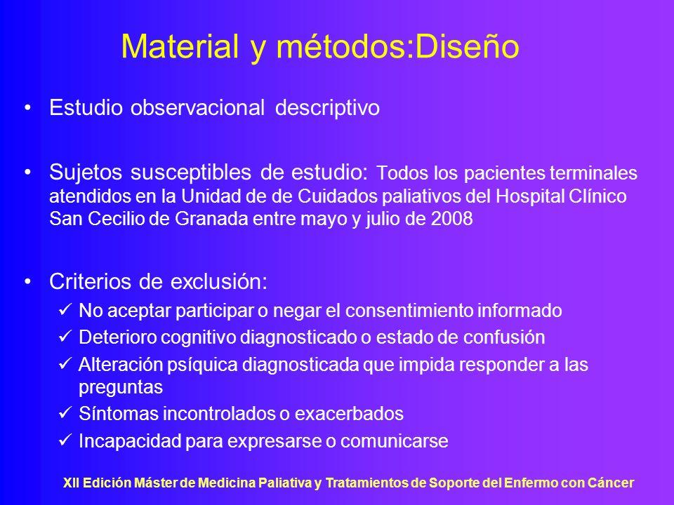 Material y métodos:Diseño