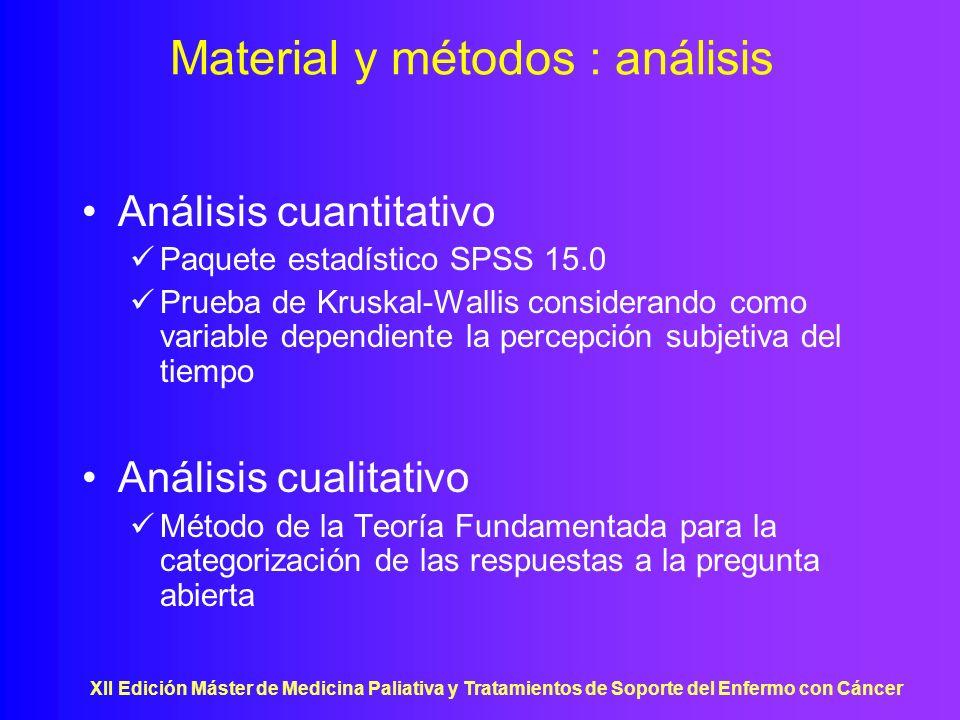 Material y métodos : análisis